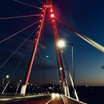 monuments across Sunderland lit up red - bridge